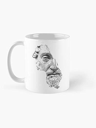 Tasse mit Marcus Aurelius Antoninus Augustus/Schwarz/Weiß, 325 ml