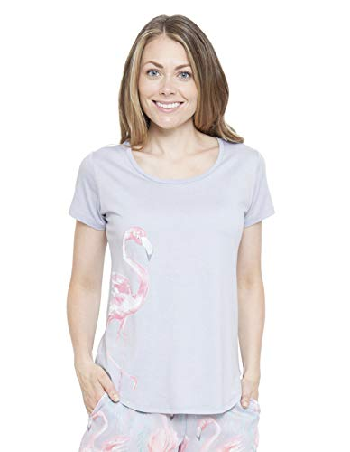 Cyberjammies 4120 Women's Zara Pink Flamingo Print Pyjama Top