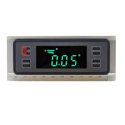 DAIMANPU Mini inclinometro Digitale Multifunzione in Lega di Alluminio ad Alta precisione a Livello di Display Digitale Mini inclinometro