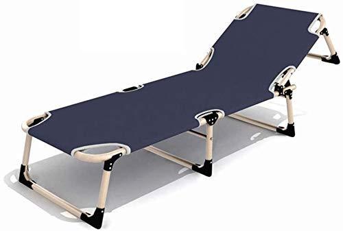 HYY-YY Lit flexible portátil pliant lit de camping portátil épaissir les tubes poche latérale chaise longue camping lit de bureau à domicile meubles de bureau à domicile (co