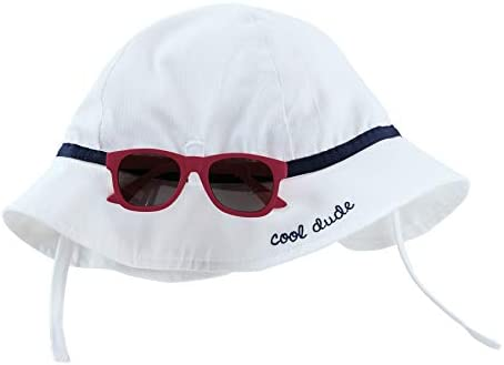Mud Pie Baby Boys Toddler Blue Sun Hat and Sunglass Set WHITE 06 18 Months product image