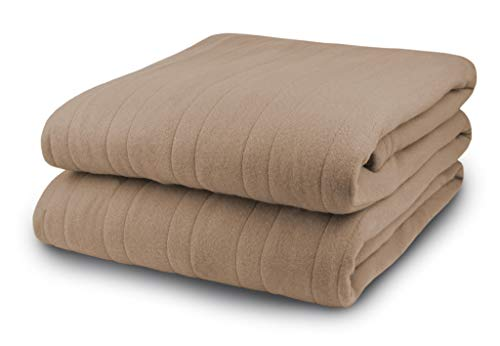 Biddeford Blankets, LLC Comfort Knit Heated Blanket, Queen, Fawn
