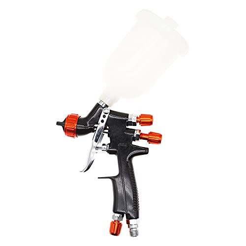 JZWYYF 1.3mm 250ml Pistola de pulverización Profesional HVLP Pintura de Aire automotriz de reparación de Pintura de automóviles Ajustable Gravity Feed Auto Neumático