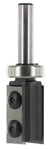 ENT 20321 Wendemesser Bündigfräser HW (HM), Schaft (C) 8 mm, Durchmesser (A) 19 mm, B 30 mm, mit Kugellager
