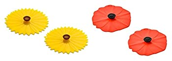Charles Viancin Sunflower and Poppy Drink Cover Set of 4
