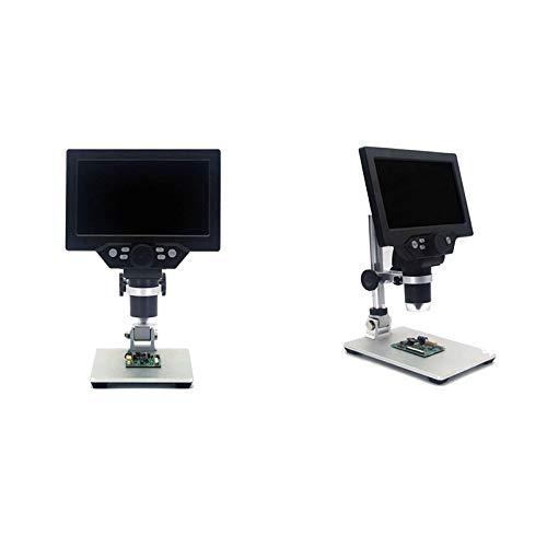 BINGFANG-W Microscopio Digital G1200 7 Pulgadas Color Grande SN LCD Grande Pantalla LCD 12MP 1-1200X Nifier de amplificación Continua con un Aumento (Color : US Plug)