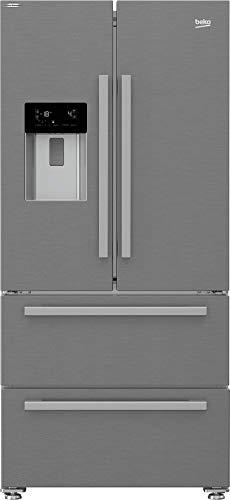 Beko GNE60530DXN French Door Frigorifero freezer, NoFrost, display multifunzione, erogatore d acqua con attacco per acqua fissa, 41 dB