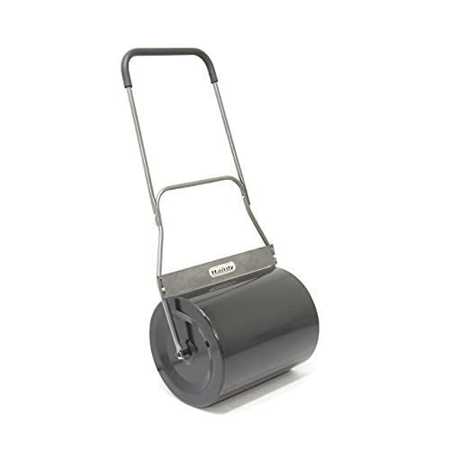 The Handy THGR Push or Pull Behind Steel Lawn Roller with Scraper 48cm Drum Width -1 Year Guarantee