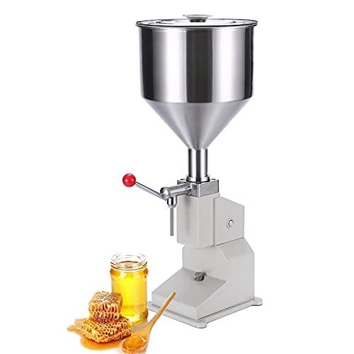 KELUNIS Máquina De Llenado Manual para Liquid & Paste, Acero Inoxidable Máquina De Llenado De Botellas 5-50Ml por Aceite Cosmético Brillo De Labios Crema Champú Miel