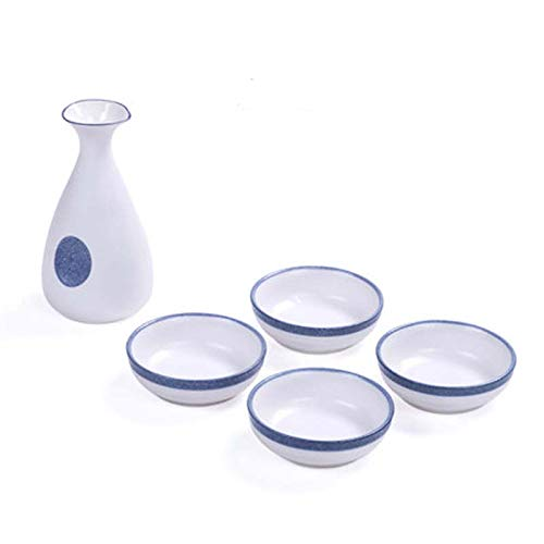jjh Juego de copas de vino de estilo japonés de estilo antiguo japonés dispensador de licor para el hogar, taza de vino de cerámica pequeña (color: 2)