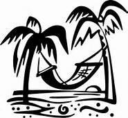 Chase Grace Studio Beach Palm Trees Hammock Vinyl Decal Sticker BLACK Cars Trucks Vans SUV Laptops Wall Art 5.25' X 5' CGS439