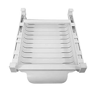 DRXX Sacs de Rangement d'ensemble d'organisateur de réfrigérateur, Support de Rangement de réfrigérateur avec glissière et 10 Sacs de Rangement réutilisables