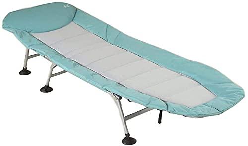 YZPDD Terrasse Liegestühle Lounge Chair, Klappbett Tragbare Angelbett Büro Nap Bett Einzelbett Outdoor Beach Bett Marschbett 205x75x27cm langlebig (Farbe : Blau)