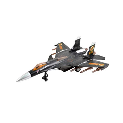 NUOBESTY - Juguetes de avión para niños con modelos de avión de plástico ligero de metal, aviones de caza, juguete de avión para niños