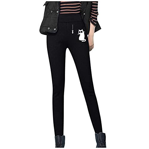 Alueeu Leggings de Cintura Alta para Mujer Invierno pantalon...