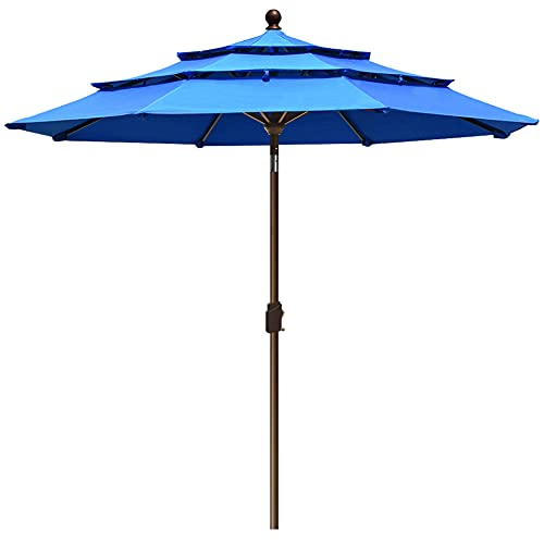 EliteShade Sunbrella 9Ft 3 Tiers Market Umbrella Patio...