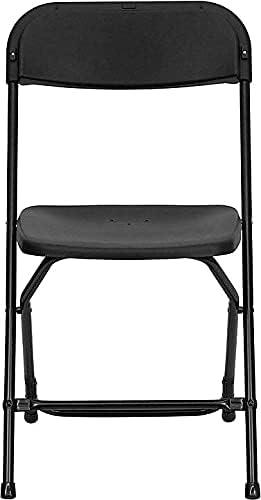 Flash Furniture EL3BLACK Ranking TOP7 Plastic Armless 6 Black Folding San Jose Mall Chair