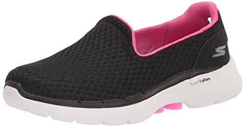 Skechers Go Walk 6 Big Splash, Zapatillas Mujer, Black/Pink, 37 EU