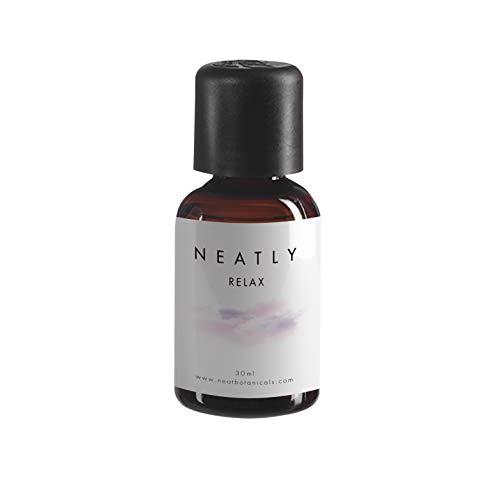 Huile Relaxant corps et esprit par NEATLY I 30 ml I Huiles essentielles a la menthe et a l'eucalyptus aux vertues calmantes I Remède naturel contre l'anxiété et le stress I Un sommeil meilleur