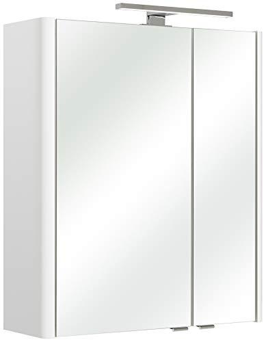 Pelipal 359 Piolo Spiegelschrank Bardi, Holzdekor, Weiß Hochglanz, 20,0 x 60,0 x 70,0 cm
