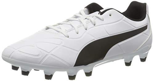 PUMA Monarch FG, Scarpe da Calcio Uomo, Bianco White Black, 42 EU