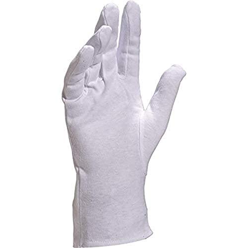 Venitex COB40 - Guanti in cotone con orlo bianco, taglia: 08