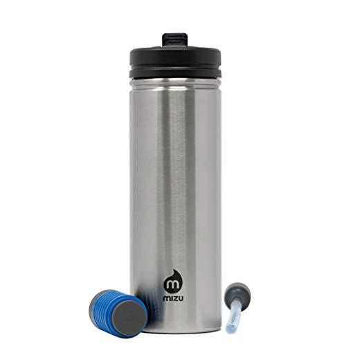 Mizu Unisex– Erwachsene 360 M9 KIT Trinkflasche silber One Size