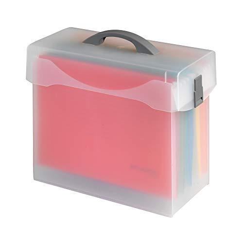 "'Vario Caja, Jalema 1548500, ligero–Carpeta colgante (Caja con tapa Incluye 5colores""Atlanta carpetas colgantes Euroflex–A4, 363x 330x 170mm"