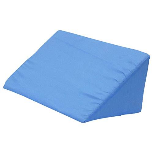 LIXBD Cojín de almohada de cuña para cama de cuerpo Posicionamiento Cuña de embarazo para dormir laterales (azul)