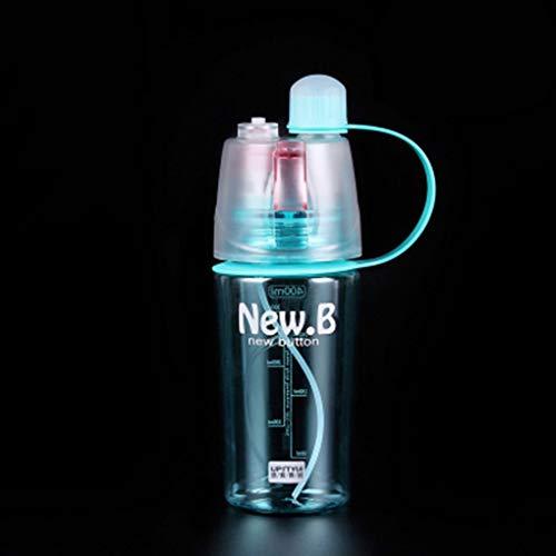 Mingtongli Ciclo al Aire Libre Botella de Spray de Agua portátil Deporte Hervidor de plástico Taza de la Bebida hidratante, Azul, 400ml