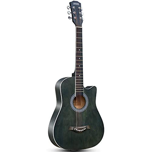 XYF 38 Guitarra Acústica, Guitarra para Folk Cutaway Basswood, Kits De Guitarra Profesional, 6 Cuerdas De Acero para Adultos Y Adolescentes Principiantes (Color : E, Size : 38 Inches)
