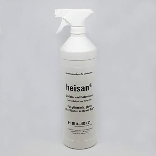 HEILER 4er Set heisan-Sanitär- und -Badreiniger (4 x 1-Liter-Flaschen und 4 Sprühköpfe)