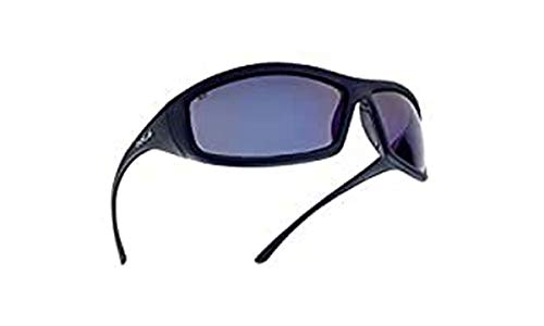 Bollé SOLIFLASH: Gafas de seguridad, un solo tamaño, lente color azul «Solis», armazón negro ⭐