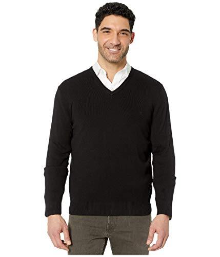 Calvin Klein Men's Cotton Modal V-Neck Sweater, Black, Large