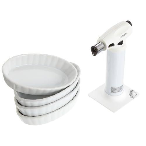 Küchenprofi 1929002205 Set per Creme brulé 5 Pezzi Colore: Bianco