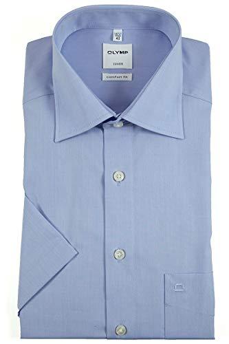 OLYMP Herren Hemd Comfort Fit Kurzarm blau (51) 47