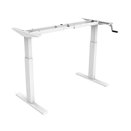 Flexispot H2 Höhenverstellbarer Schreibtisch Kurbelverstellbares Tischgestell, Passt für Alle Gängigen Tischplatten (Weiß, Maximale Belastung: 80 KG.)