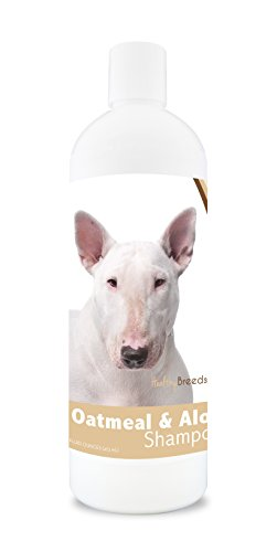 Healthy Breeds Dog Oatmeal Shampoo with Aloe for Bull Terrier - Over 75 Breeds – 16 oz - Mild and Gentle for Itchy, Scaling, Sensitive Skin – Hypoallergenic Formula and pH Balanced