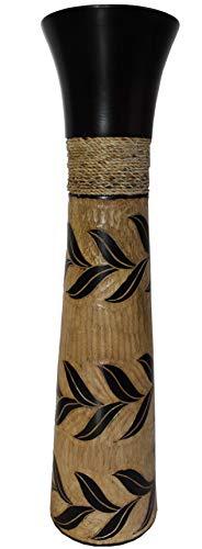Rotfuchs Vase à Fleurs Vase en Bois Vase à étage Vase à Table Dekovase pour la décoration 76 cm en Bois de manguier