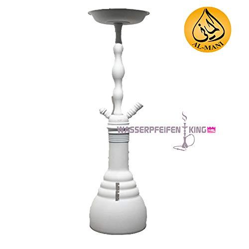 Al-Mani Shisha Shisha Z-06 weiß 1-Schlauch Wasserpfeife