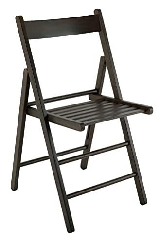 4 sillas plegables de madera de haya FSC para cocina, comedor, apilables,...