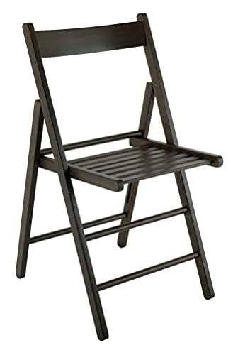 4 sedie pieghevoli legno di faggio FSC cucina sala da pranzo impilabili giardino (wengè)