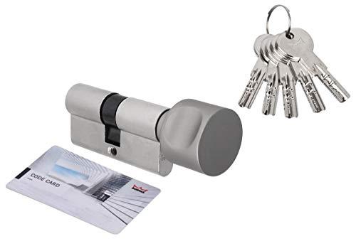 Schließzylinder, Profilzylinder, Dorma, 30 K/ 30 mm, 5 Stifte, mit Knauf, Card