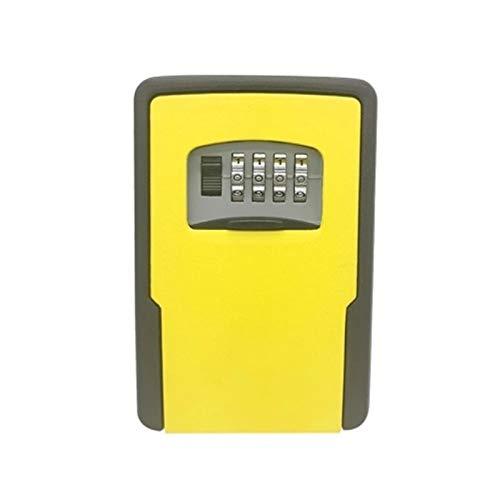 WanuigH Caja Fuerte para Llaves Ajustable de Bloqueo de Teclas Combinaciones de Almacenamiento de Bloqueo Caja de Almacenamiento Llave de la casa Más Confiable (Color : Yellow, Size : One Size)