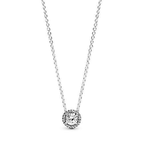 Pandora Damen Silber Halskette Klassische Eleganz 396240CZ-45