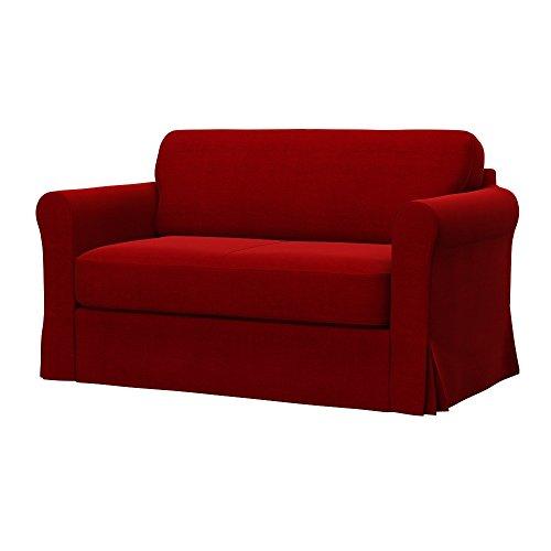 Soferia - IKEA HAGALUND Funda para sofá Cama, Elegance Red