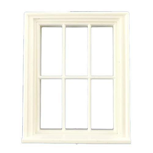 Melody Jane Poupées Constructeurs Bricolage 1:24 Échelle Classique Plastique Blanc Géorgien 6 Volet Fenêtre