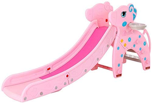 WCY La Zona de Juegos de Diapositivas compañero de los niños for los niños preescolares Diapositiva del Patio de Tenis Cubierta Plegable for Jugar fácil de configurar Inicio (Color: Rosa, Tamaño: