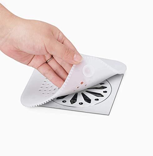 LONGFITE Silikon Drain Protector Hair Catch Duschablauf Abdeckung Waschbecken Sieb mit Saugnapf für Badezimmer Badewanne und Küche (2 Pack, Transparent)