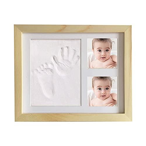 Pilvnar Kit de Marco de Fotos de Arcilla con Huella de bebé Marco de Fotos con impresión de Manos y pies para bebés Regalo de Recuerdo de Llena No tóxico Seguro Arcilla Original